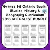 Grades 1-8 ONTARIO SOCIAL STUDIES, HIS & GEO CURRICULUM 20