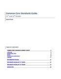 Grades 11 & 12 English Common Core Alignment Chart and SAT