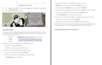 Grades 11/12 CCSS (Common Core) Differentiated Instruction Unit: Hyphens