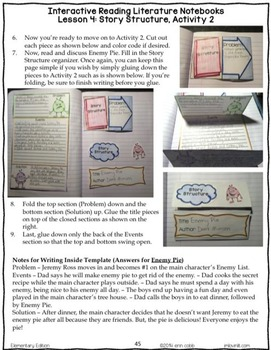Reading Interactive Notebooks: Literature Grades 2-3