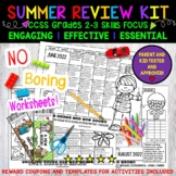 Summer Review, 2-3, NO PREP! 3 Calendars, 65 Activities Parent Letters Included.