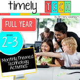 Grades 2-3 Timely Tech Full Year Monthly Themed Computer Lab Activities