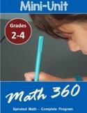 Grades 2-4  First Week Back to School (Mini Ontario Math U