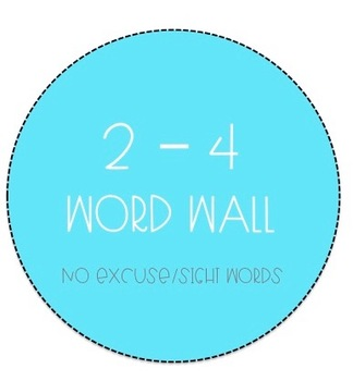 Grades 2 - 4 Word Wall - No Excuse Words Bundle (Editable)