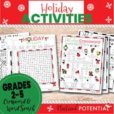 Grades 2 - 5 Christmas Word Search & Christmas Crossword  