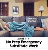 Grades 2-5 Emergency Substitute Work