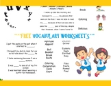 ***FREE*** second, third, fourth and fifth grade - Vocabulary WorkSheets
