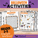 Grades 2 - 5 Halloween Word Search & Halloween Crossword  