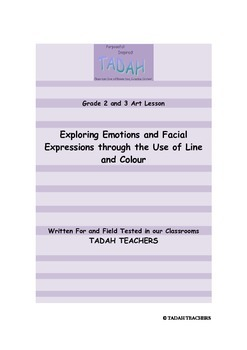 Grades 2 and 3: Using Line and Colour to Represent Emotions