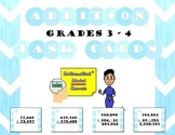 Grades 3 - 4 Addition Task Cards (with missing digits)
