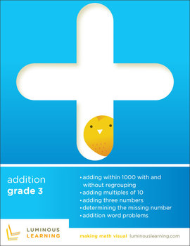 Grade 3 Addition Workbook: Making Math Visual