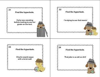 Detect the Hyperbole  Figurative Language CCSS-Grades 3-4