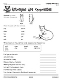 Grades 3-4 Language Arts Unit 1: Antonyms, Synonyms, Homophones
