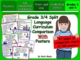 Grades 3 & 4 Split Language Curriculum Comparison Charts & Posters - 223 pages