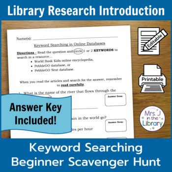 Grades 3, 4, and 5 Encyclopedia Scavenger Hunts & Lesson Plans