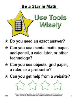 """Grades 3-5 """"BE A STAR"""" Mathematical Practices Posters with Mini Book"""
