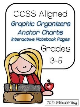 Grades 3-5 CCSS Aligned RL Comprehension Set and Interactive Notebook Pages