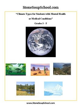 Grades 3 -5  - Climate Types for Mental Health or Medical Conditions