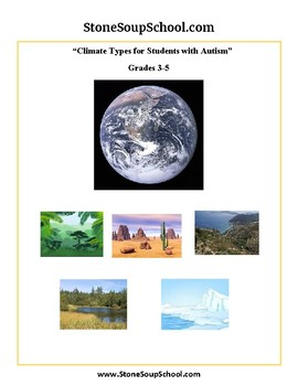 Grades 3 -5  - Climate Types for Students with Autism