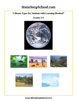 Grades 3 -5  - Climate Types for Students with Learning Disabled