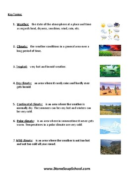Grades 3 -5  - Climate Types for Students with Physical Disabilities