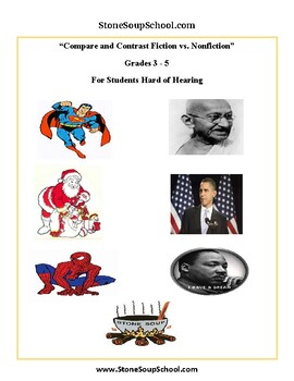 Grades 3 - 5 - Compare and Contrast - F vs NF - Hearing Impairments