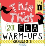 Grades 3-5 Daily Warm-Ups and Morning Work for ELA - Perfect for Homework, too!