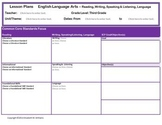 Grades 3-5 ELA AND Grades 4-5 Math Special Ed Interactive Lesson Plan Templates