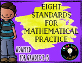 Eight Mathematical Practice Standards - Common Core - Adapted for Grades 3-5