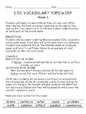 Grades 3-5 End of Grade (EOG) Test -Prep: Weekly Vocabular