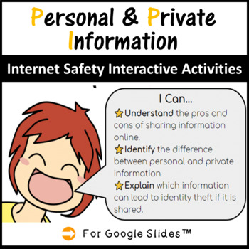 Grades 3-5 Internet Safety Interactive Lesson - Personal & Private Information