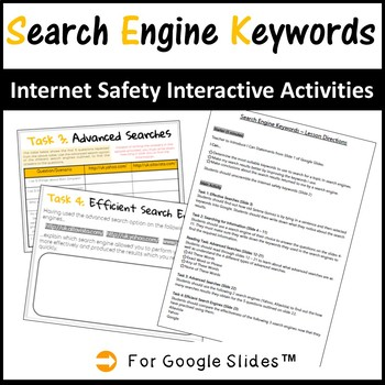 Grades 3-5 Internet Safety Interactive Lesson – Search Engine Keywords