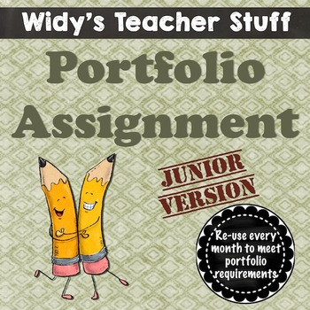 Grades 3-5 Monthly Portfolio - Assignment & Rubric For Conferences