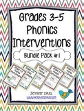 Phonics Interventions Bundle with Lesson Plans, Activities