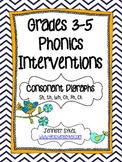 Consonant Digraphs ~ Phonics Interventions, Grades 3-5 Lesson Plans & Materials