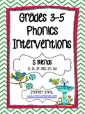 S Blends ~ Phonics Interventions, Grades 3-5 Lesson Plans and Materials