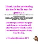 Grades 3-5 Prefix Suffix Sort Game