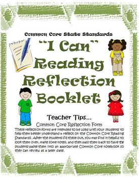 Grades 3-5 Reading Literature Bundle: I Can Forms, Cards, and Rubrics