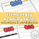 Reading Skills: Notes, Worksheets, & Graphic Organizers ENTIRE YEAR! GRADES 3-5