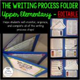 The Writing Process Folder EDITABLE - Upper Elementary Gra
