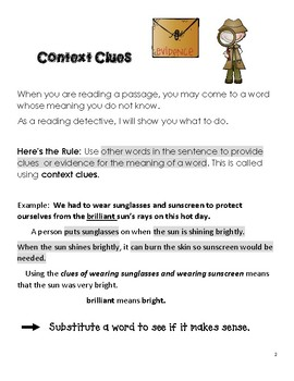 Grades 3-5 Use the Clues- Practice #2