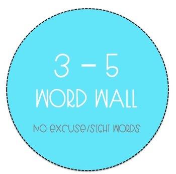 Grades 3-5 Word Wall - No Excuse Word Bundle (Editable)