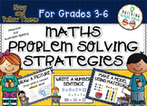 Grades 3-6 Maths Problem Solving Strategies {Navy and Yell