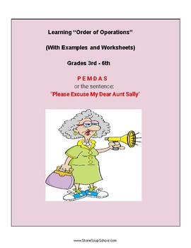 """Grades 3 - 6 Orders of Operations or """"PEMDAS"""""""