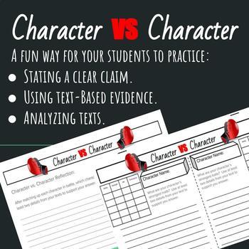 Grades 3-8 Common Core Aligned Fun Character Analysis Reading Response Activity