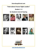 Grades 3 - 8 for Students Hard of Hearing - International Human Rights Leaders