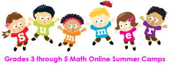 Grades 3 through 5 Math Online Summer Camps