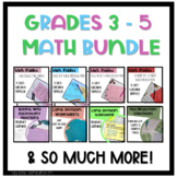 Grades 3 to 5 Math Resources Growing Bundle!