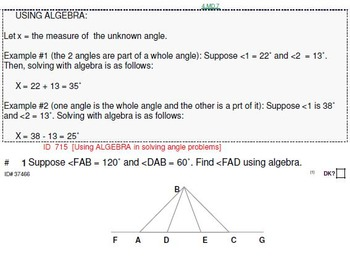 Grades 4, 5 & 6: Using Algebra to solve problems (4 worksheets)