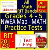 Grades 4 - 5 NWEA MAP Math Practice Test RIT 201 - 230 - Printable and Paperless